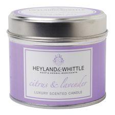 Heyland & Whittle Tin sviečka 180 g, Citrus & Lavender