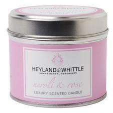 Heyland & Whittle Tin sviečka 180 g, Neroli & Rose Candle