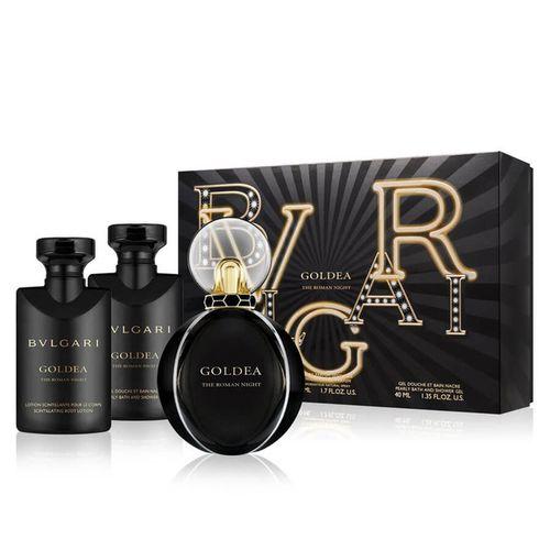 Bvlgari Goldea The Roman Night kazeta, EdP 50 ml + SG 40 ml + TM 40 ml
