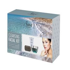 Aqua MINERAL Basic Facial Care kazeta, Milky Facial Scrub 180 ml + Mud Mask 100 ml + Mud Soap 125g