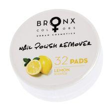 Bronx Colors Nail Polish Remover 32 Pads odlakovač, Lemon