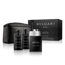 Bvlgari Man Black Cologne kazeta, EdT 100 ml + SG 75 ml + balzam po holení 75 ml + kozmetická taštička