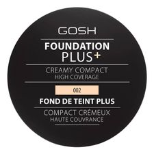 Gosh Foundation Plus+ Creamy Compact High Coverage make-up 9 g, 002 Ivory