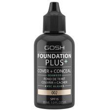 Gosh Foundation Plus+ make-up 30 ml, 002 Ivory