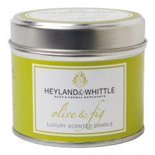 Heyland & Whittle Tin sviečka 180 g, Olive & Fig Candle