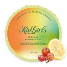 KinGirls Face Mask maska 1 ks, Multi-ovocná transparentná maska