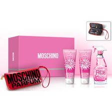 Moschino Pink Fresh Couture kazeta, EdT 100 ml + TM 100 ml + SG 100 ml + manikúrový set