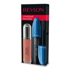 Revlon Volume&Length Magnified kazeta, maskara Black 8,5 ml + lesk na pery Ultra HD Matte Lipcolor 630 Seduction