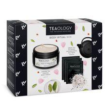 Teaology Green Tea kazeta, telový krém + 3x soľ do kúpeľa