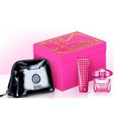 Versace Bright Crystal Absolu kazeta, EdP 90 ml + TM 100 ml + kozmetická taštička
