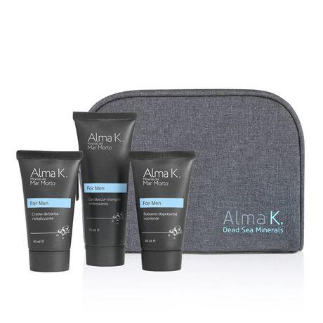 Alma K For Men kazeta, balzam po holení 40 ml + krém na holenie 40 ml + SG 75 ml