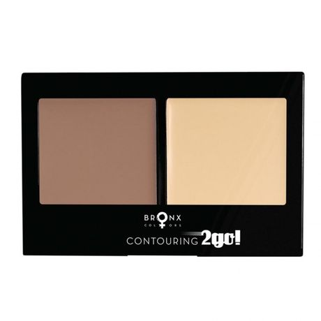 Bronx Colors Contouring 2Go multilíčidlo 8 g, Deep Brown / Medium Beige