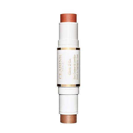 Clarins 2in1 Stick make-up 10 g, Highlighter & Blush 01