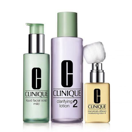 Clinique 3-Step Skin Care hydratačná emulzia 1 ks, Type 2 50 ml + 100 ml + 30 ml