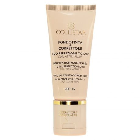 Collistar Foundation + Concealer Total Perfection Duo make-up 30 ml, 4 amber