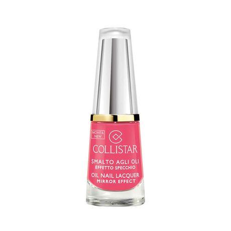 Collistar Oil Nail Lacquer Mirror Effect lak na nechty 6 ml, 306 Rosa Geranio