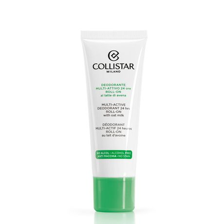 Collistar Perfect body dezodorant roll-on 75 ml, Multi-Active Deodorant 24 Hours roll-on with oat milk
