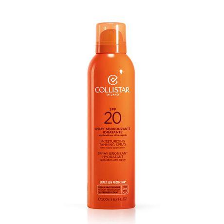 Collistar Sun Linea opaľovací sprej 200 ml, Moisturizing Tanning Spray SPF20