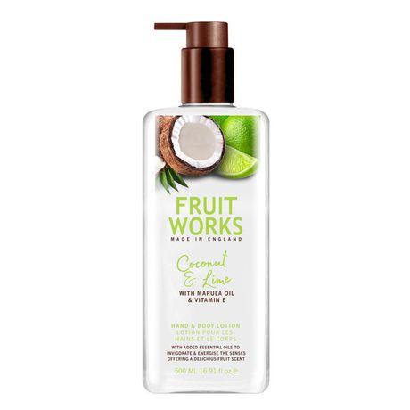 Fruit Works Coconut & Lime krém na ruky 500 ml, Hand & Body Lotion