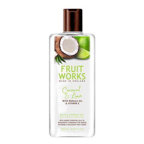Fruit Works Coconut & Lime sprchový gél 500 ml, Bath & Shower Gel