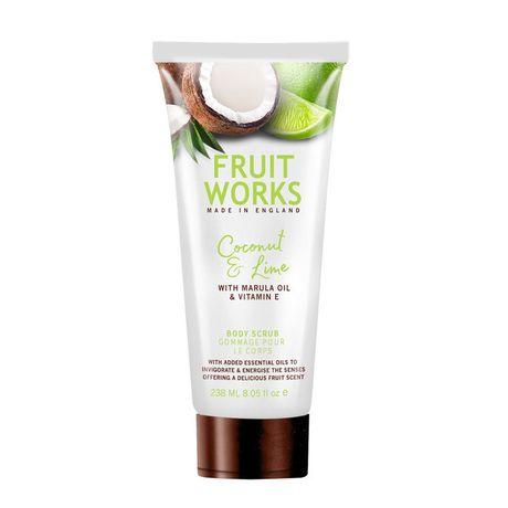 Fruit Works Coconut & Lime telový peeling 238 ml, Body Scrub