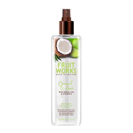 Fruit Works Coconut & Lime telový spray 250 ml, Body Mist