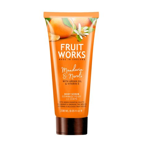 Fruit Works Mandarin & Neroli telový peeling 238 ml, Body Scrub