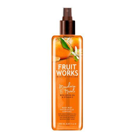 Fruit Works Mandarin & Neroli telový spray 250 ml, Body Mist