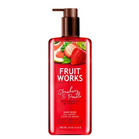 Fruit Works Strawberry & Pomelo tekuté mydlo 500 ml, Hand Wash