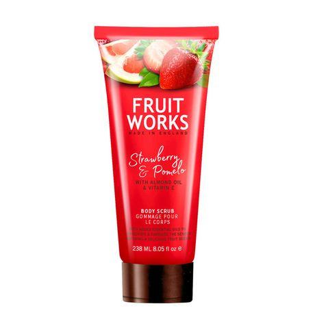 Fruit Works Strawberry & Pomelo telový peeling 238 ml, Body Scrub