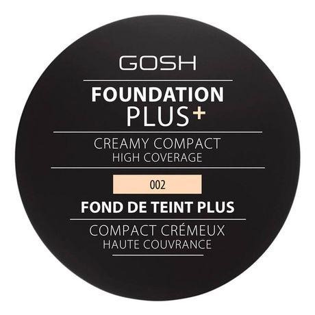 Gosh Foundation Plus+ Creamy Compact High Coverage make-up 9 g, 002 Ivory