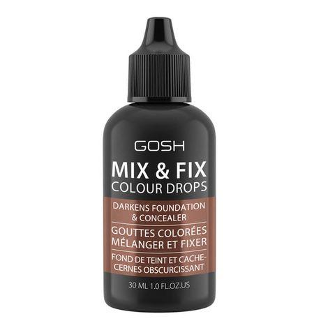 Gosh Mix & Fix Colour Drops make-up 30 ml, 004 Dark
