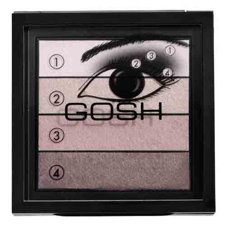 Gosh Smokey Eyes Palette očný tieň 8 g, 01 Black