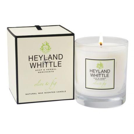 Heyland & Whittle Glass sviečka 230 g, Olive & Fig