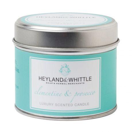 Heyland & Whittle Tin sviečka 180 g, Clementine & Prosecco