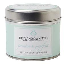Heyland & Whittle Tin sviečka 180 g, Greentea & Grapefruit