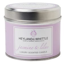 Heyland & Whittle Tin sviečka 180 g, Jasmine & Lilac