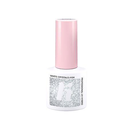 Hi Hybrid Laky lak na nechty 5 ml, 104 White Crystal