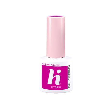 Hi Hybrid Laky lak na nechty 5 ml, 212 Amused Pink