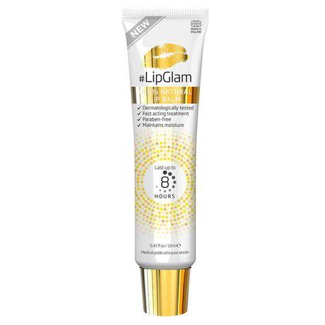 LipGlam 100% Natural Lip Balm balzam na pery, Last up to 8 hours