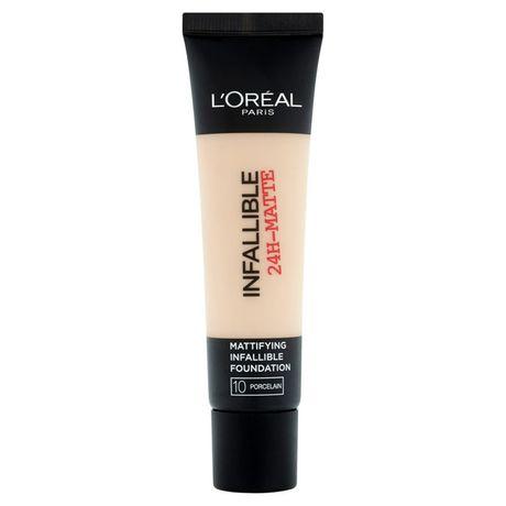 L'Oreal Paris Infallible 24H Matte make-up 35 ml, 10 Porcelain