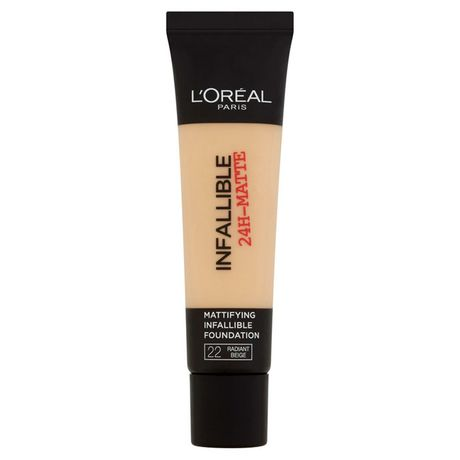 L'Oreal Paris Infallible 24H Matte make-up 35 ml, 22 Radiant Beige