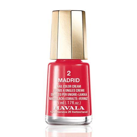 Mavala Mini color lak na nechty 5 ml, 2 Madrid, červený bez perlete