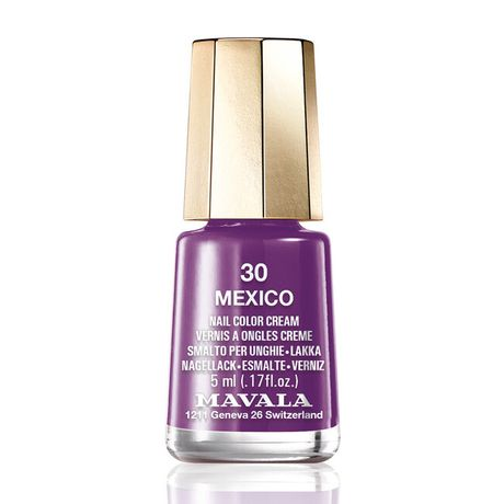 Mavala Mini color lak na nechty 5 ml, 30 Mexico, fialovočierny bez perlete