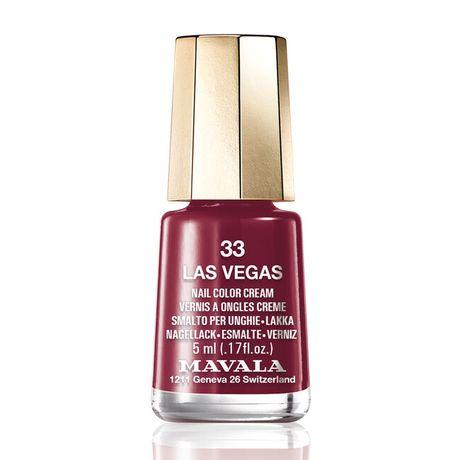 Mavala Mini color lak na nechty 5 ml, 33 Las Vegas, brusnicový bez perlete