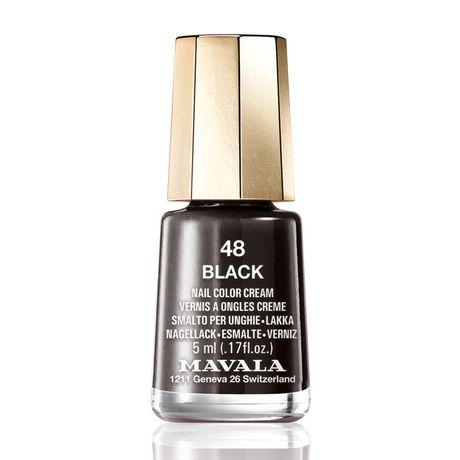 Mavala Mini color lak na nechty 5 ml, 48 Black, čierny bez perlete