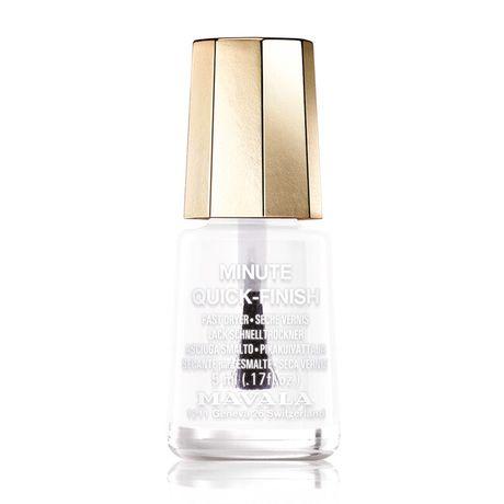 Mavala Mini color lak na nechty 5 ml, Minute Quick - Finish, priesvitný rýchloschnúci