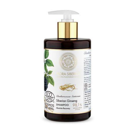 Natura Siberica Flora Siberica šampón 480 ml, Siberian Ginseng Shampoo Absolute Recovery