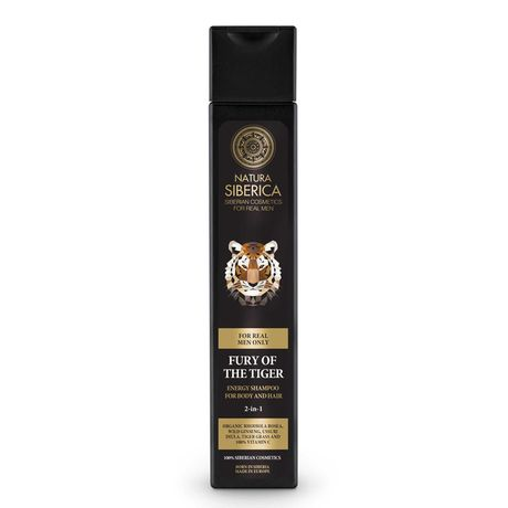 Natura Siberica Men šampón 250 ml, Energy Shampoo For Body And Hair Fury Of The Tiger