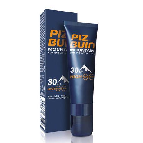 Piz Buin Mountain tyčinka 1 ks, Cream SPF 30 + Lipstick 30